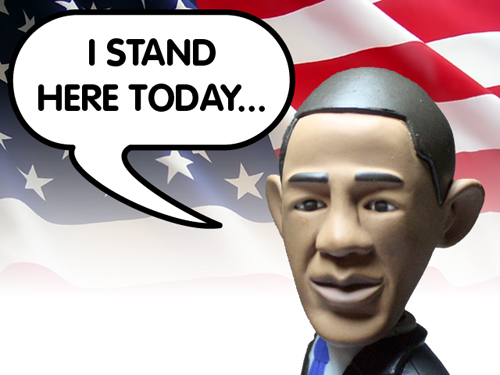 cadeautip Action hero Barack Obama pop, een origineel cadeau