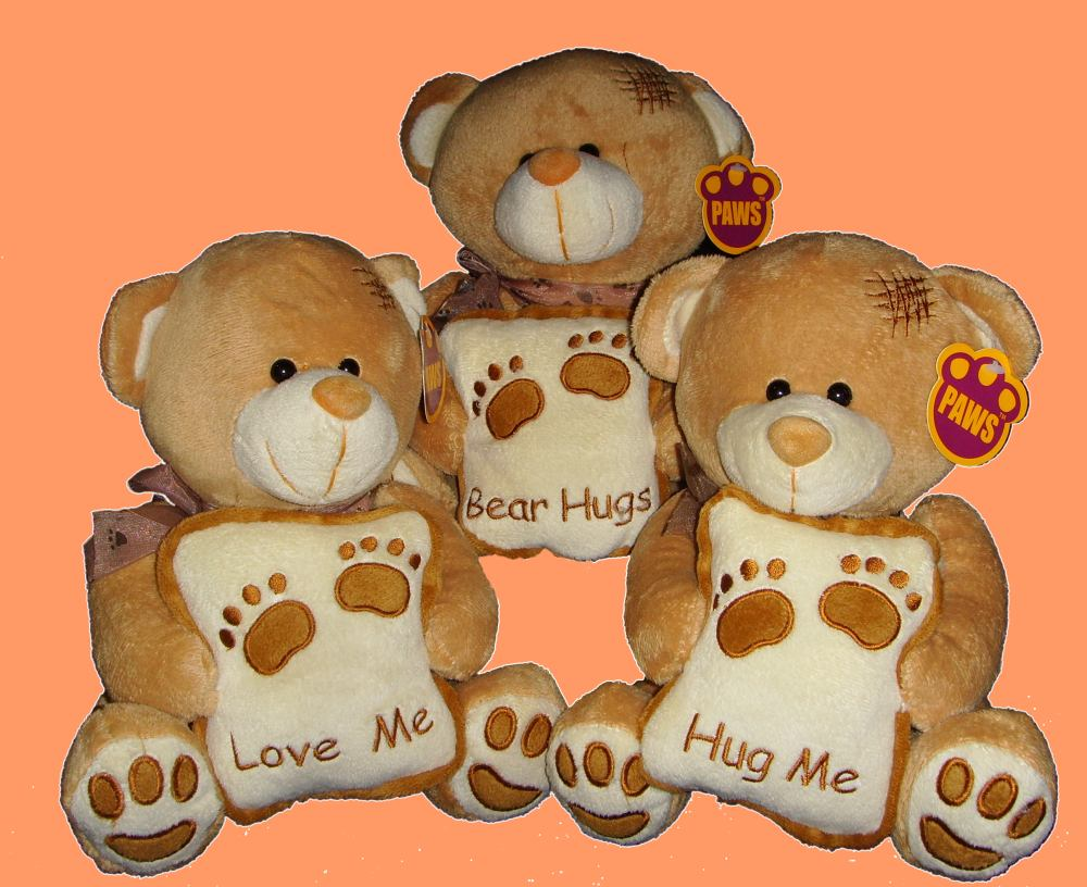 cadeautip Love you bear HUGS, een origineel kado
