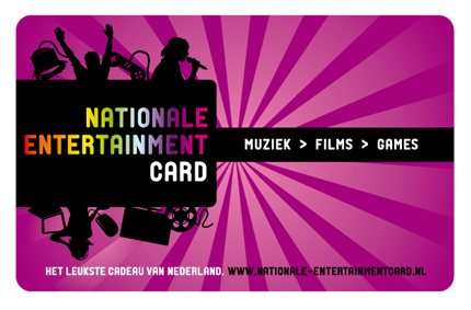cadeautip Nationale Entertainment Card 15 euro, een origineel kado