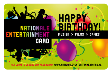 cadeautip Nationale Entertainment Card 20 euro, een origineel cadeau