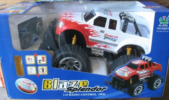 cadeautip RC MONSTERTRUCK - BLAZE SPLENDER 1 10, een origineel kado