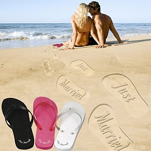 cadeautip Slippers -Just Married-, een origineel kado